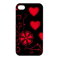 Background Hearts Ornament Romantic Apple Iphone 4/4s Hardshell Case