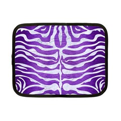 Skin2 White Marble & Purple Brushed Metal Netbook Case (small)