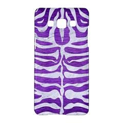 Skin2 White Marble & Purple Brushed Metal Samsung Galaxy A5 Hardshell Case