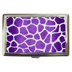 Skin1 White Marble & Purple Brushed Metal (r) Cigarette Money Cases