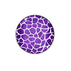 Skin1 White Marble & Purple Brushed Metal (r) Hat Clip Ball Marker (4 Pack)
