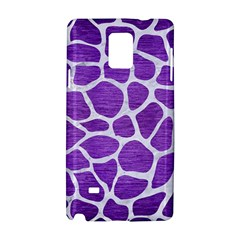 Skin1 White Marble & Purple Brushed Metal (r) Samsung Galaxy Note 4 Hardshell Case
