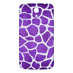 Skin1 White Marble & Purple Brushed Metal (r) Samsung Galaxy Mega I9200 Hardshell Back Case