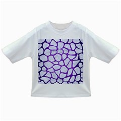 Skin1 White Marble & Purple Brushed Metal Infant/toddler T Shirts