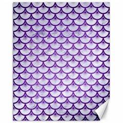Scales3 White Marble & Purple Brushed Metal (r) Canvas 16  X 20