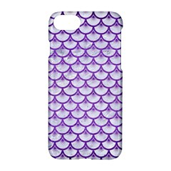 Scales3 White Marble & Purple Brushed Metal (r) Apple Iphone 7 Hardshell Case by trendistuff