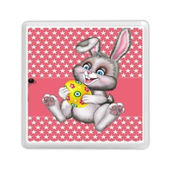 Illustration Rabbit Easter Memory Card Reader (square)