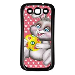 Illustration Rabbit Easter Samsung Galaxy S3 Back Case (black)