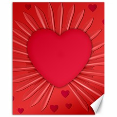Background Texture Heart Love Canvas 16  X 20