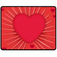 Background Texture Heart Love Fleece Blanket (medium)