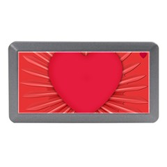 Background Texture Heart Love Memory Card Reader (mini)