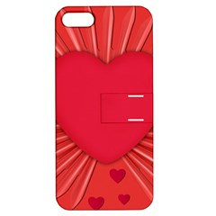 Background Texture Heart Love Apple Iphone 5 Hardshell Case With Stand by Sapixe