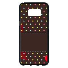 Design Background Reason Texture Samsung Galaxy S8 Plus Black Seamless Case