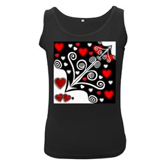 Ornament Background Women s Black Tank Top