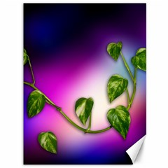 Leaves Green Leaves Background Canvas 36  X 48   by Sapixe