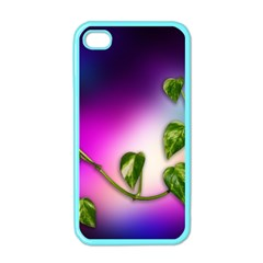Leaves Green Leaves Background Apple Iphone 4 Case (color)