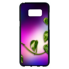 Leaves Green Leaves Background Samsung Galaxy S8 Plus Black Seamless Case