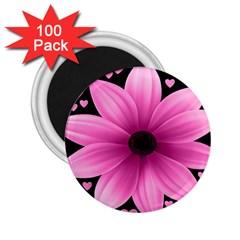 Flower Plant Floral Petal Nature 2 25  Magnets (100 Pack)