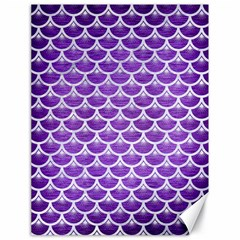 Scales3 White Marble & Purple Brushed Metal Canvas 18  X 24