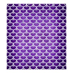 Scales3 White Marble & Purple Brushed Metal Shower Curtain 66  X 72  (large)  by trendistuff