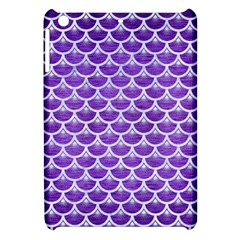 Scales3 White Marble & Purple Brushed Metal Apple Ipad Mini Hardshell Case