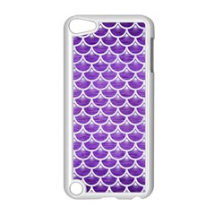 Scales3 White Marble & Purple Brushed Metal Apple Ipod Touch 5 Case (white)
