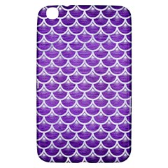 Scales3 White Marble & Purple Brushed Metal Samsung Galaxy Tab 3 (8 ) T3100 Hardshell Case  by trendistuff