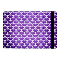 Scales3 White Marble & Purple Brushed Metal Samsung Galaxy Tab Pro 10 1  Flip Case