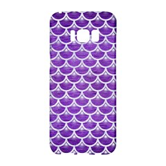Scales3 White Marble & Purple Brushed Metal Samsung Galaxy S8 Hardshell Case