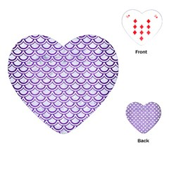 Scales2 White Marble & Purple Brushed Metal (r) Playing Cards (heart)