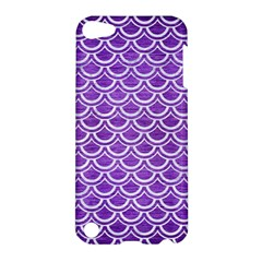 Scales2 White Marble & Purple Brushed Metal Apple Ipod Touch 5 Hardshell Case