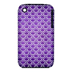 Scales2 White Marble & Purple Brushed Metal Iphone 3s/3gs