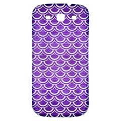 Scales2 White Marble & Purple Brushed Metal Samsung Galaxy S3 S Iii Classic Hardshell Back Case by trendistuff