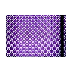 Scales2 White Marble & Purple Brushed Metal Ipad Mini 2 Flip Cases by trendistuff