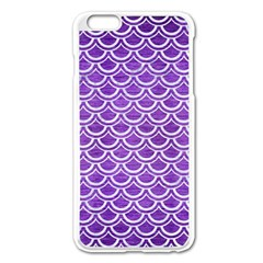 Scales2 White Marble & Purple Brushed Metal Apple Iphone 6 Plus/6s Plus Enamel White Case