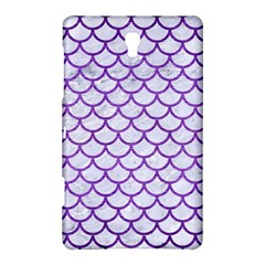 Scales1 White Marble & Purple Brushed Metal (r) Samsung Galaxy Tab S (8 4 ) Hardshell Case