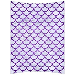 Scales1 White Marble & Purple Brushed Metal (r) Back Support Cushion