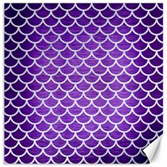 Scales1 White Marble & Purple Brushed Metal Canvas 20  X 20