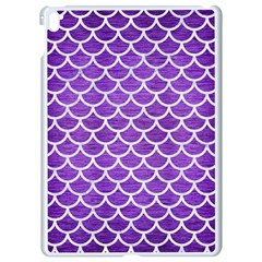 Scales1 White Marble & Purple Brushed Metal Apple Ipad Pro 9 7   White Seamless Case