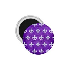 Royal1 White Marble & Purple Brushed Metal (r) 1 75  Magnets by trendistuff