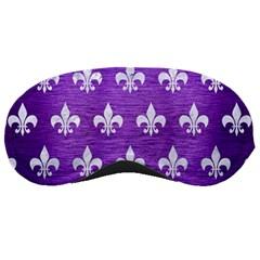 Royal1 White Marble & Purple Brushed Metal (r) Sleeping Masks