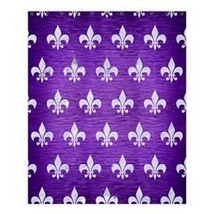 Royal1 White Marble & Purple Brushed Metal (r) Shower Curtain 60  X 72  (medium)