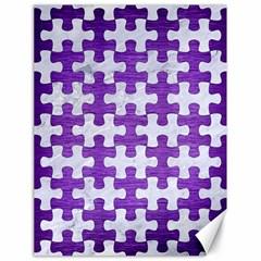 Puzzle1 White Marble & Purple Brushed Metal Canvas 18  X 24