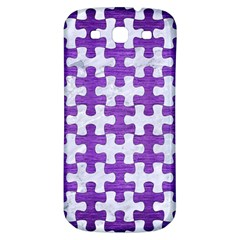 Puzzle1 White Marble & Purple Brushed Metal Samsung Galaxy S3 S Iii Classic Hardshell Back Case