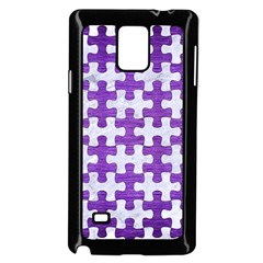Puzzle1 White Marble & Purple Brushed Metal Samsung Galaxy Note 4 Case (black)