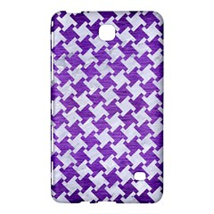 Houndstooth2 White Marble & Purple Brushed Metal Samsung Galaxy Tab 4 (7 ) Hardshell Case  by trendistuff