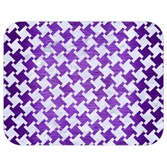 Houndstooth2 White Marble & Purple Brushed Metal Full Print Lunch Bag by trendistuff