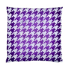 Houndstooth1 White Marble & Purple Brushed Metal Standard Cushion Case (one Side)