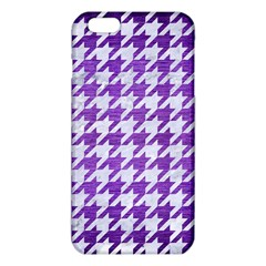 Houndstooth1 White Marble & Purple Brushed Metal Iphone 6 Plus/6s Plus Tpu Case