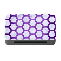 Hexagon2 White Marble & Purple Brushed Metal (r) Memory Card Reader With Cf